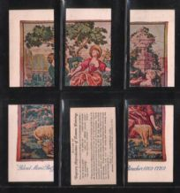 Cigarette cards Tapestry of famous Painting  Puzzle set
